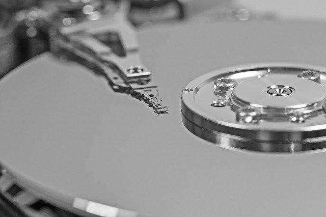 Foto de entrada de disco duro externo